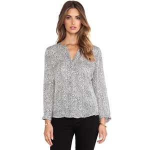 Joie Purine Blouse in Charcoal, Size Medium